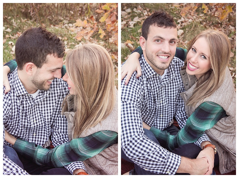 Fall couple photographs